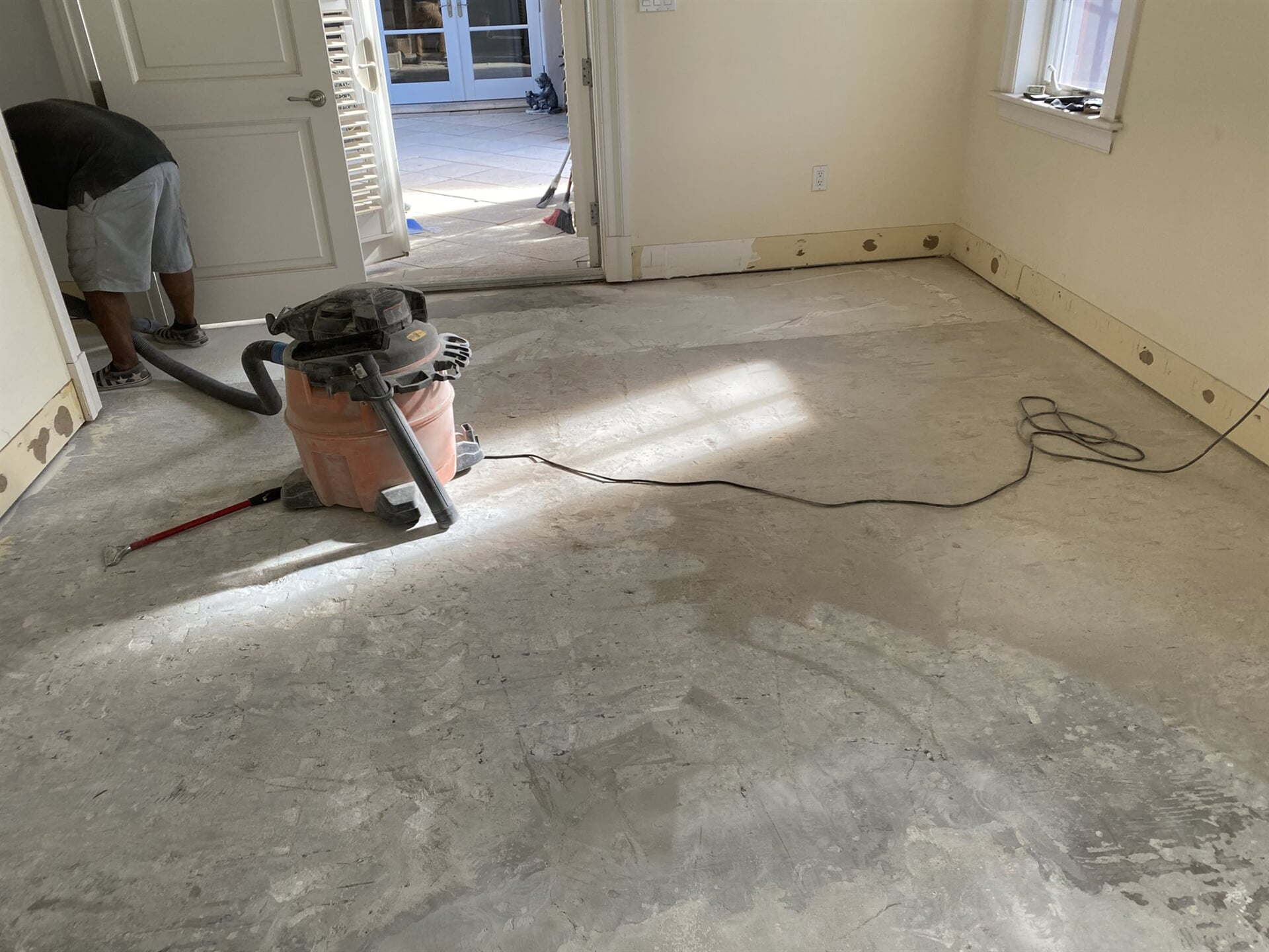 Prepped subfloor in Juno Beach, FL from Floors For You Kitchen & Bath