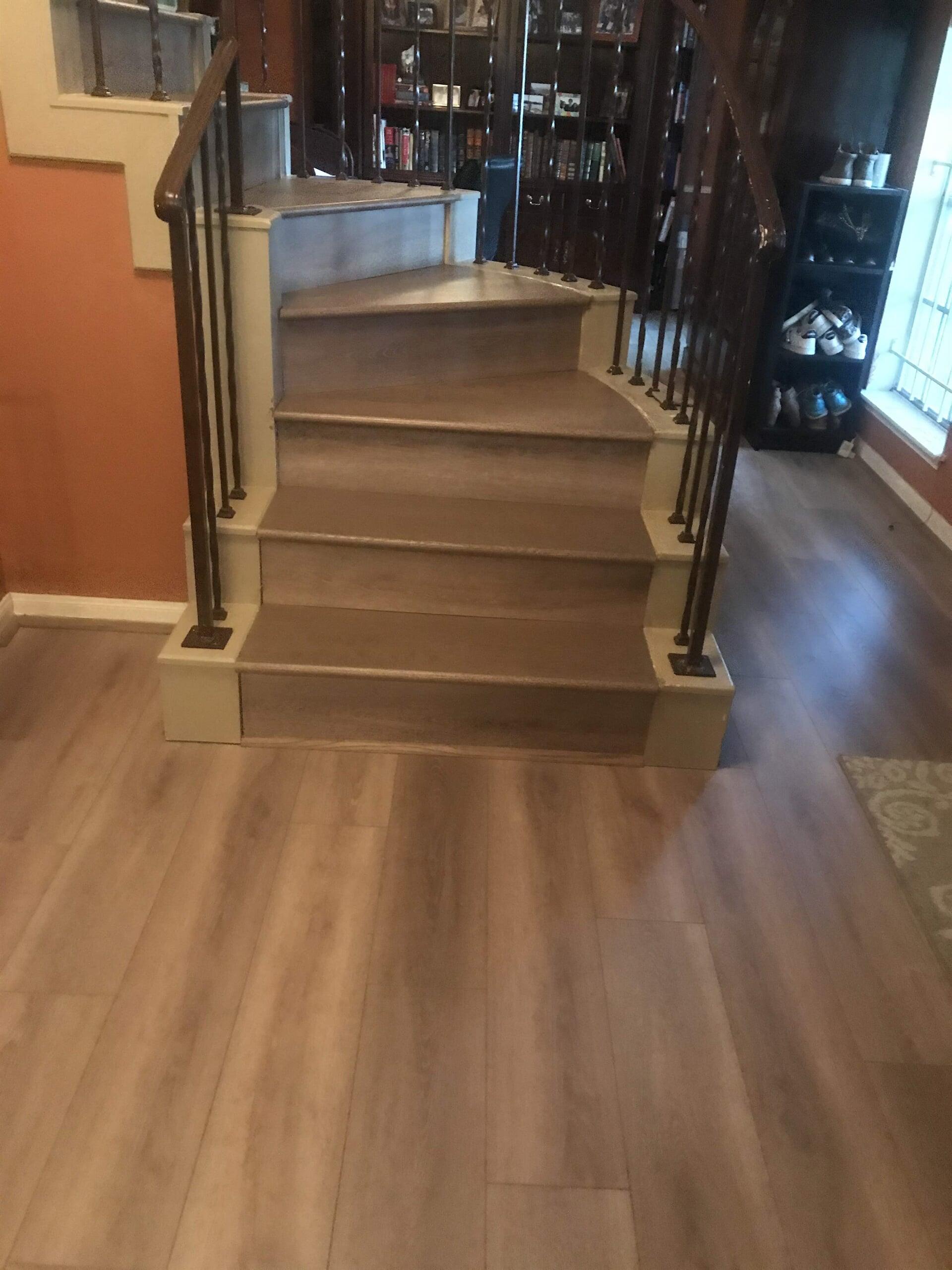 Stair landing in Houston, TX from Floor Inspirations