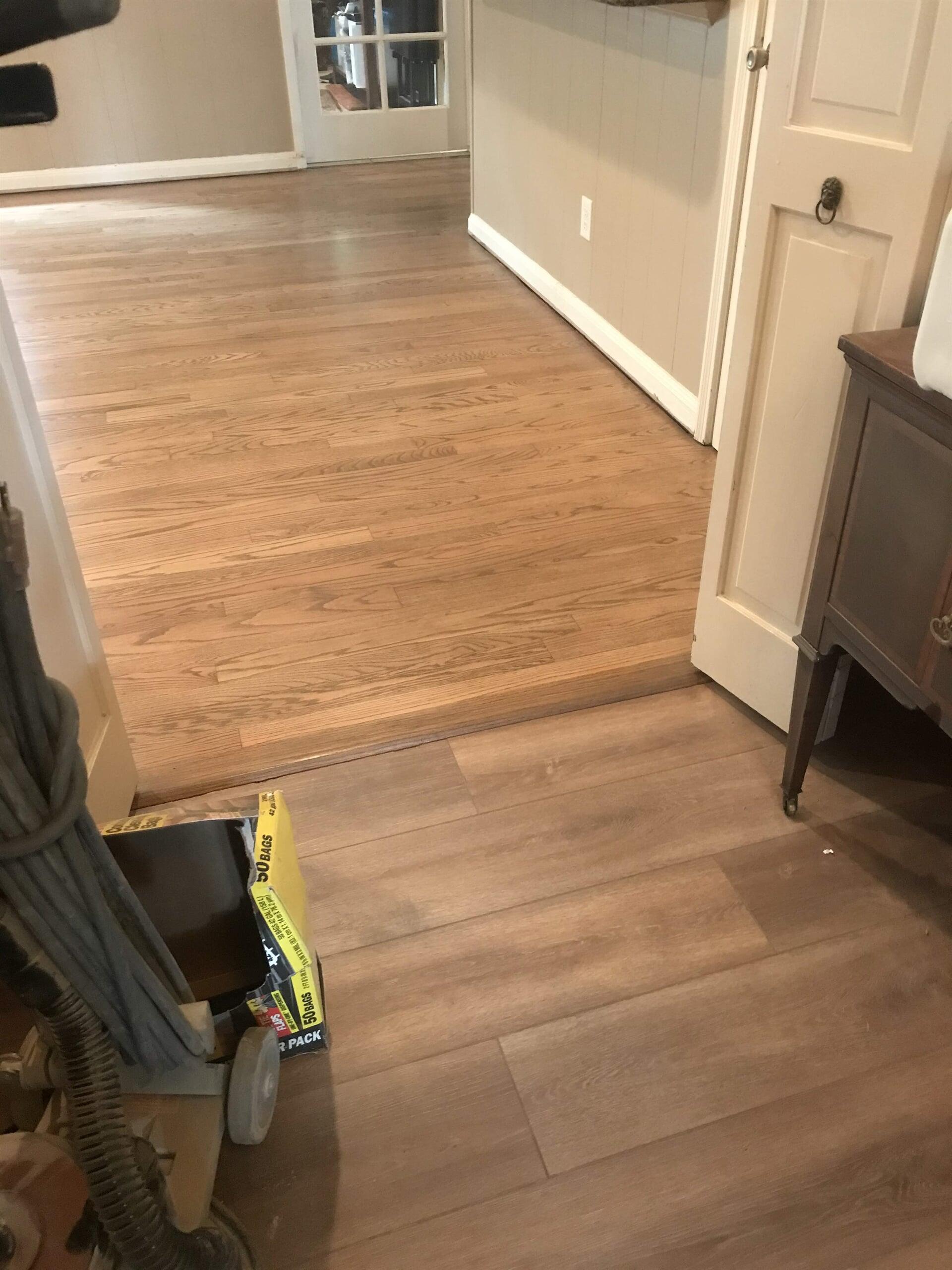 Flooring transition in Houston, TX from Floor Inspirations