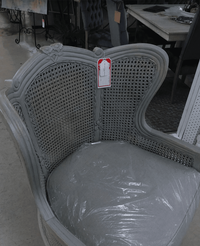 Grey woven chair in Lyons, GA from The Warehouse