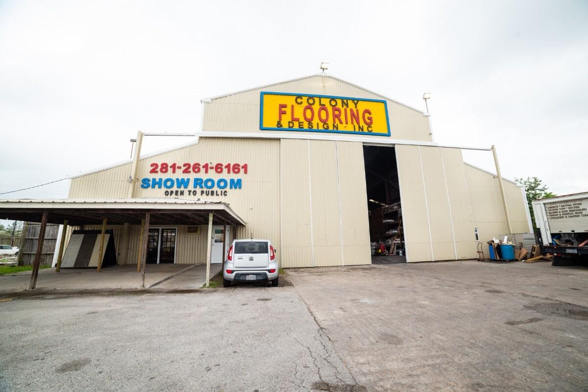 Colony Flooring & Design Inc showroom near Stafford, TX