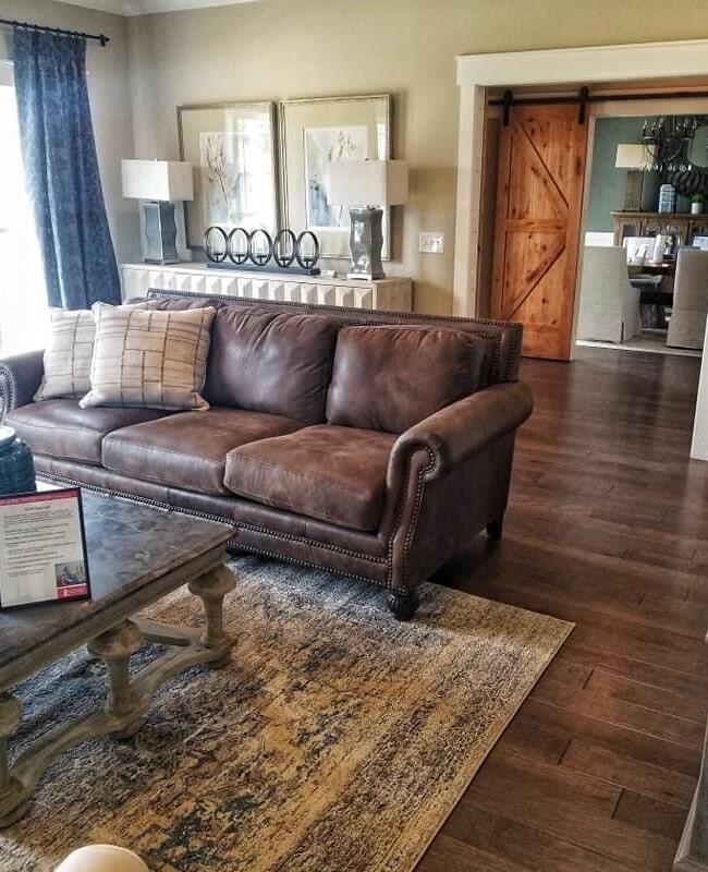 Dark tone hardwood floors in Auburn, KY from Shop at Home Carpets