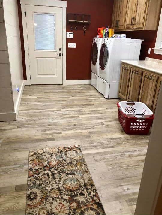 Light tone wood look flooring in Fort Payne, AL from R&D Flooring