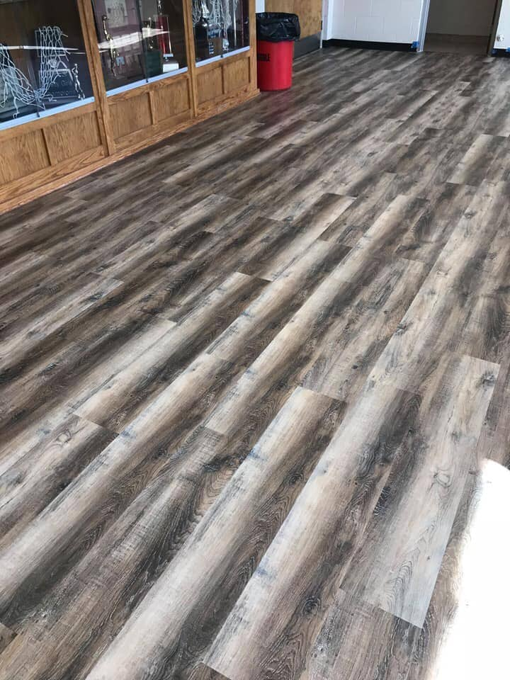 Greyscale wood look flooring in Valley Head, AL from R&D Flooring