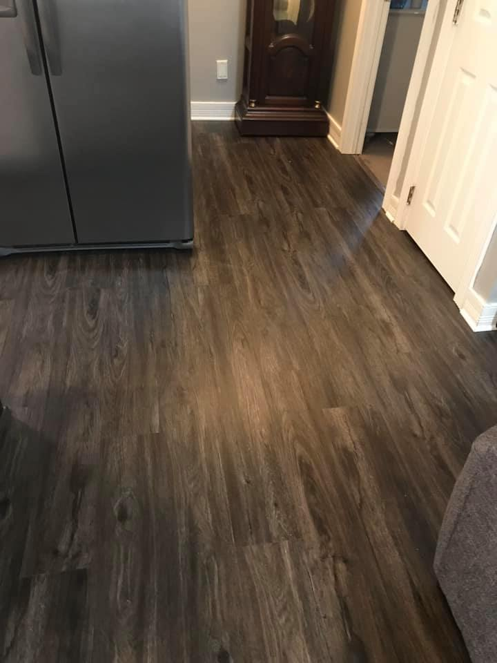 Dark tone wood look flooring in Fort Payne, AL from R&D Flooring