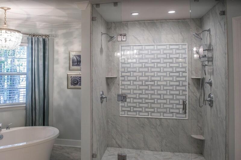 Custom shower in Crawfordville, FL from Luke Van Camp's Floors & More