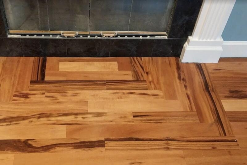 Wood fireplace hearth in Woodville, FL from Luke Van Camp's Floors & More