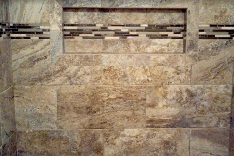 Custom recessed shelving in Thomasville, GA from Luke Van Camp's Floors & More
