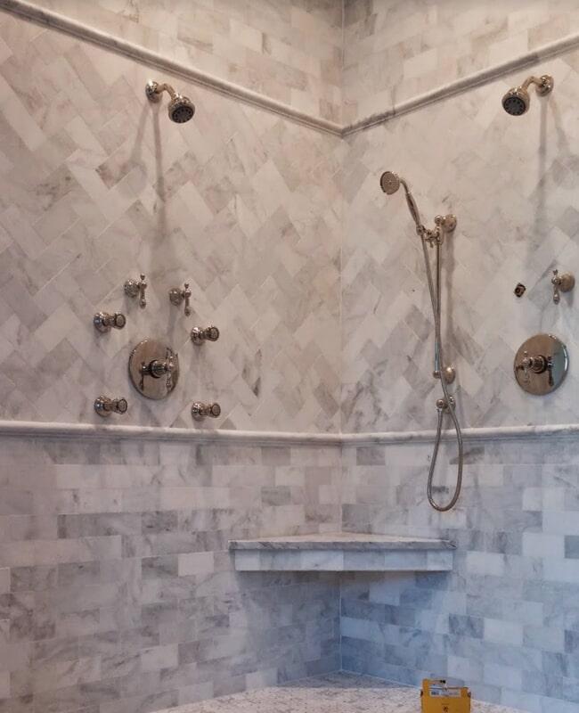 Tile shower installation in Tallahassee, FL from Luke Van Camp's Floors & More