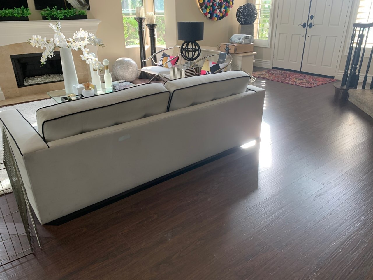 Engage Genesis with pad, color: Imbuya (installed by Marcus) by Geneva Flooring
