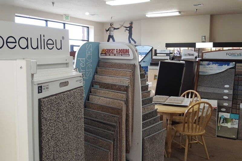 Carpet flooring in Ivins, UT from the Sunset Flooring showroom