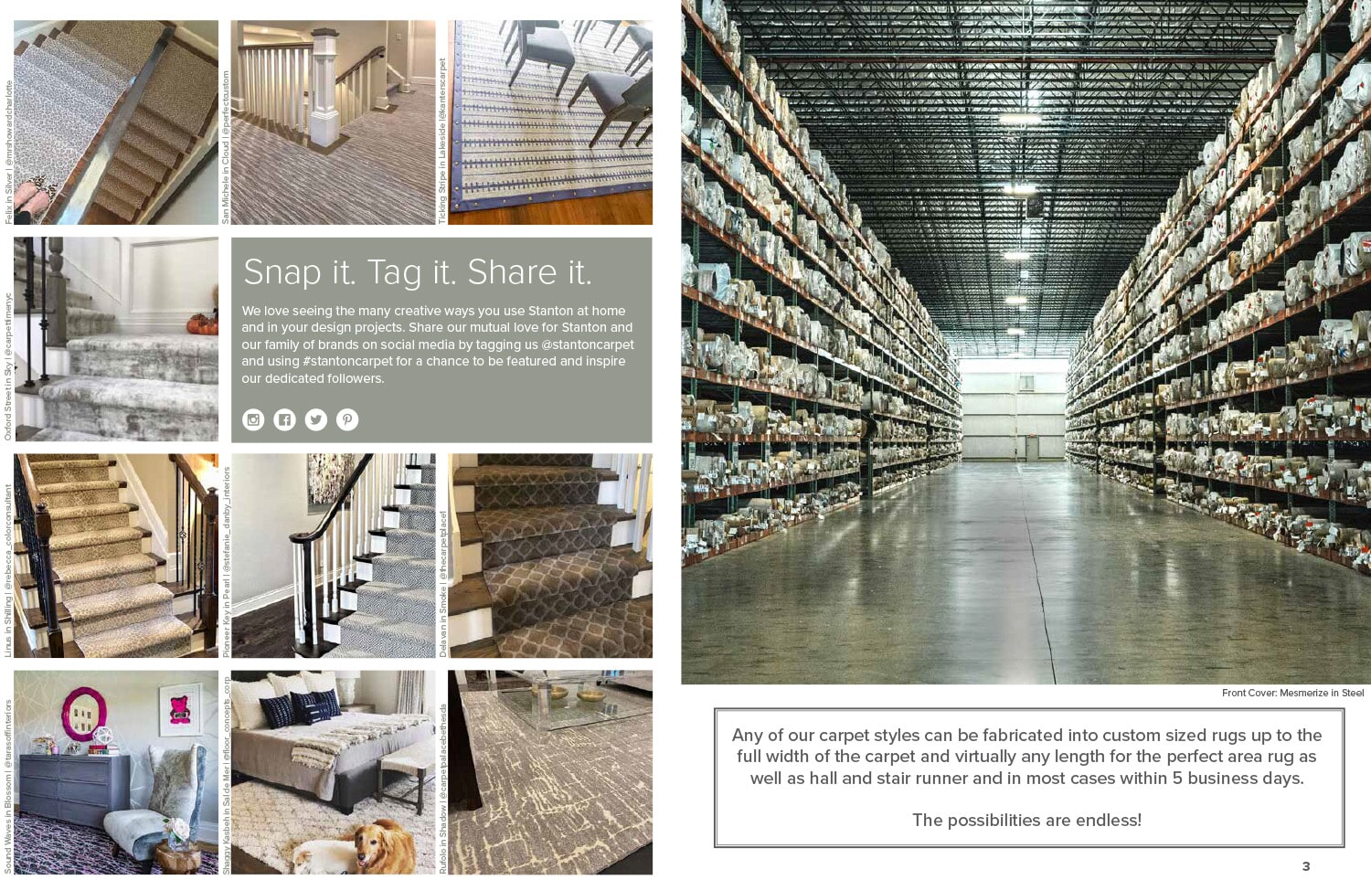 Stanton Create a Rug program by Freds Flooring Services