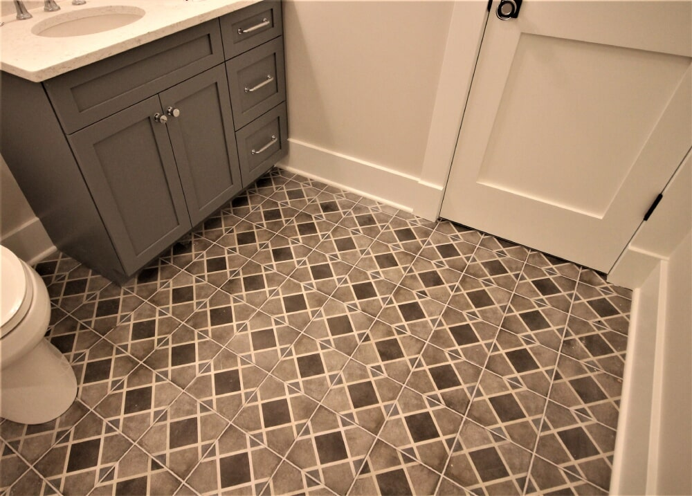 Cape Cod Beach House Dal Quartetto tile flooring in Yarmouth, MA from Paramount Rug Company