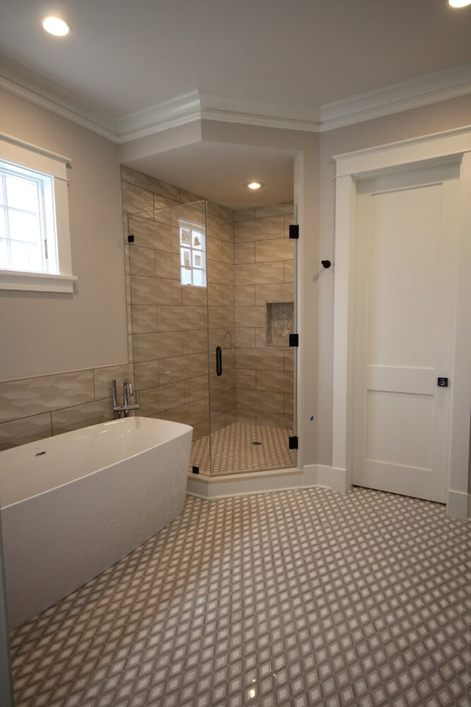 Wall Tile Dal Argyle Grey Polished Mosic Marble Floor in Hyannis, MA from Paramount Rug Company