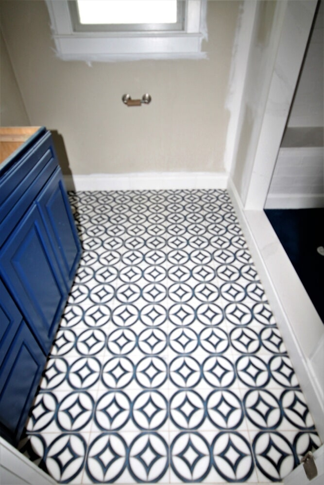 Portsmouth Bathroom Remodel Cobalt Blue in Franklin, MA from Paramount Rug Company