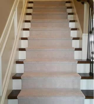 Carpet stair runner in St. Clair Shores, MI from Ultra Floors
