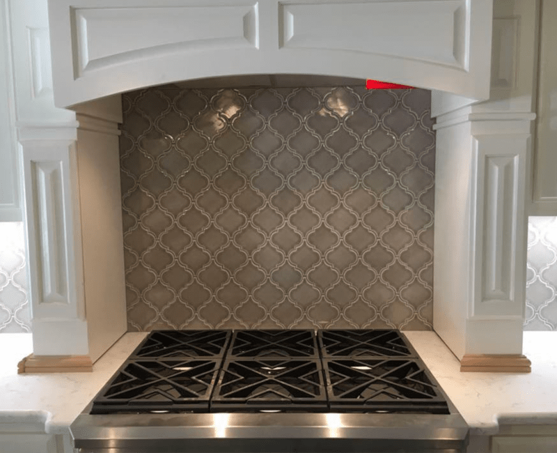 Tile backsplash in Menifee, AR from Conway Flooring & Design