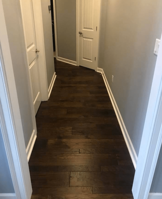 Dark hardwood flooring in Mayflower, AR from Conway Flooring & Design