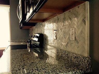 Glass tile backsplash in Bethany Beach, DE from Room Flippers