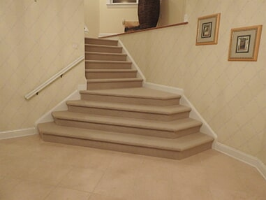 Custom carpeted stairs in Dagsboro, DE from Room Flippers