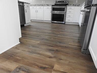Wood look kitchen flooring in Ocean View, DE from Room Flippers