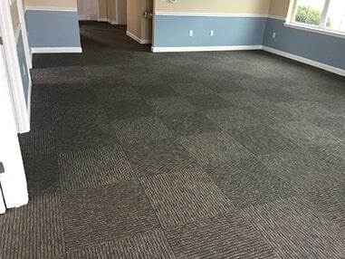 Carpet tile installation in Dagsboro, DE from Room Flippers