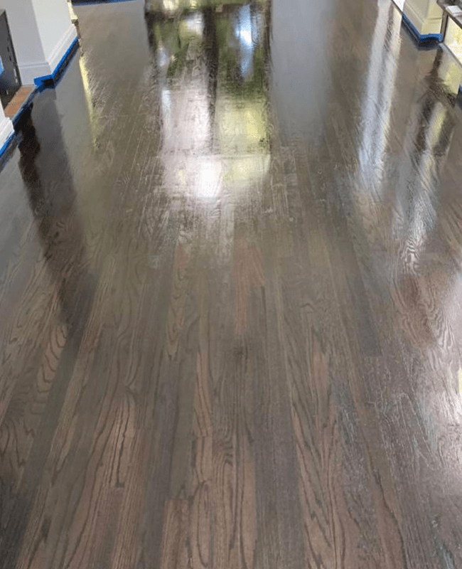 High gloss wood floors in Fountainebleau, FL from Doral Hardwood Floor