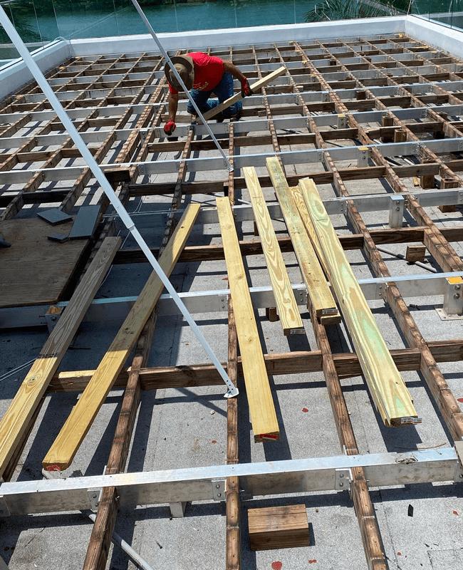 Subfloor preparation in Miami, FL from Doral Hardwood Floor