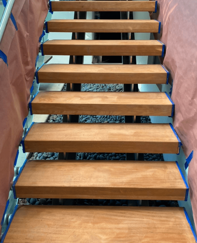 Floating stairs in Miami, FL from Doral Hardwood Floor