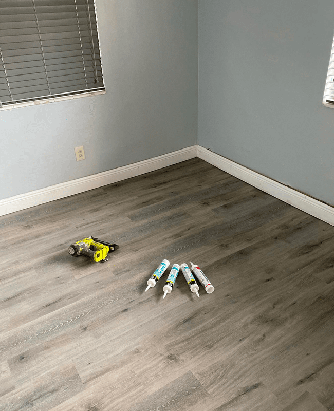 Vinyl plank flooring installation in Hialeah, FL from Doral Hardwood Floor
