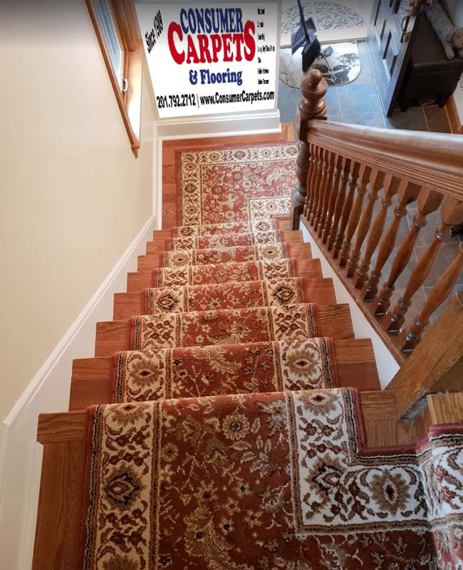 Stair runner in Bayonne, NJ from Consumer Carpets & Flooring
