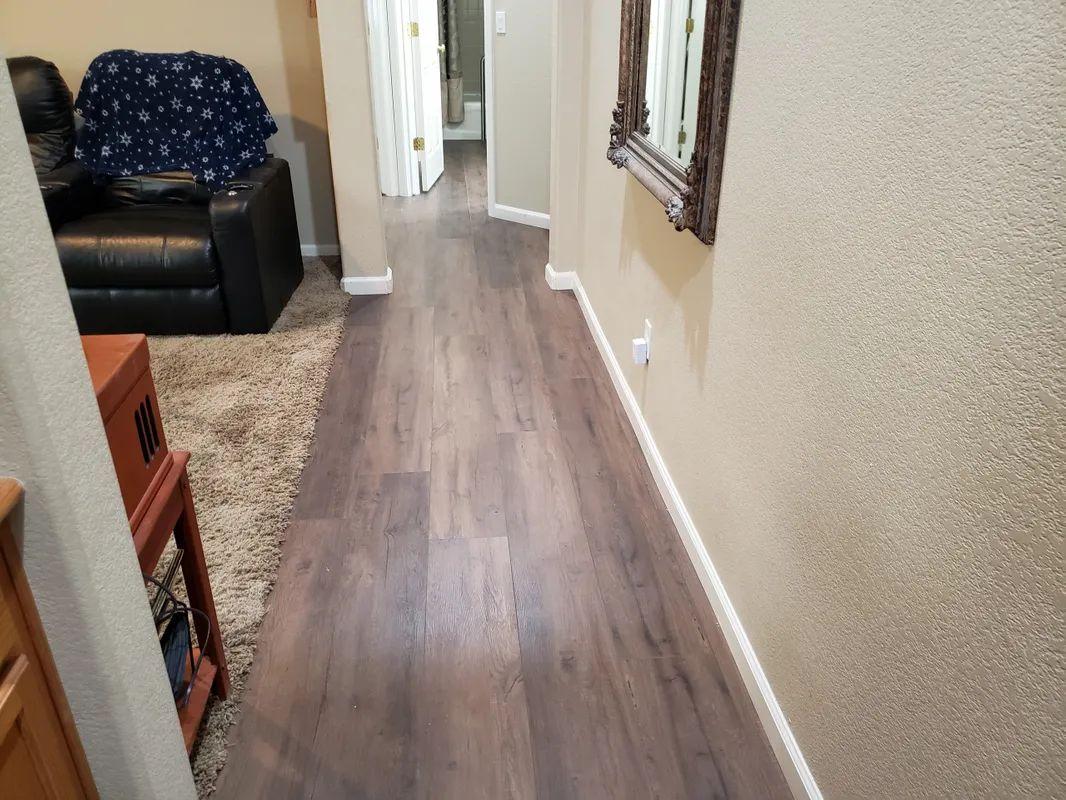 Flooring transition in Folsom, CA from Crestview Flooring Inc