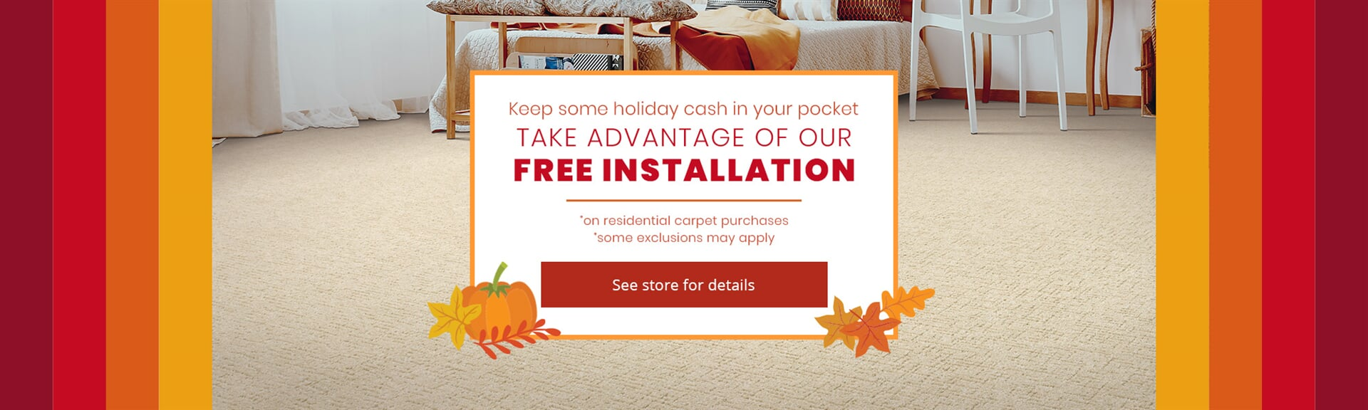 Free installation on residential carpets in  from Appleton Carpetland USA