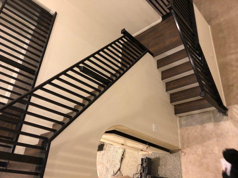 Wood stairs in Las Vegas, NV from Beno's Flooring