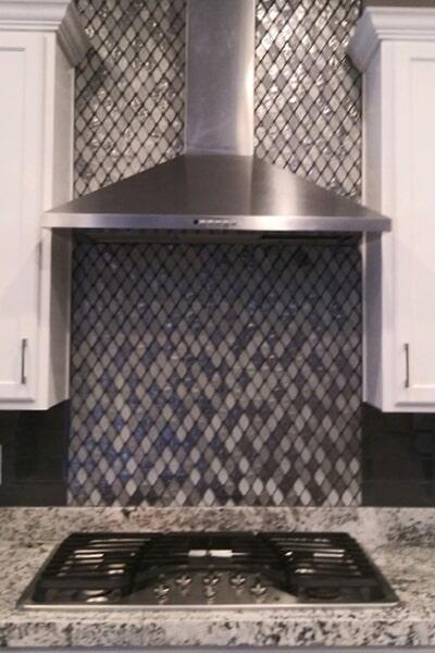 Glass tile backsplash in Summerlin, NV from Beno's Flooring
