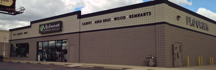 The Midwest Flooring Outlet storefront in Toledo, OH