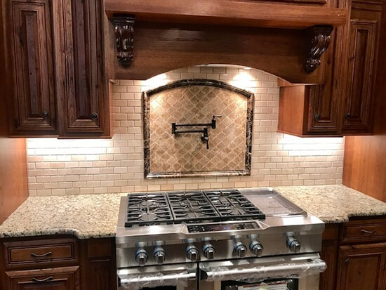 Tile backsplash in Loris, SC from Waccamaw Floor Covering