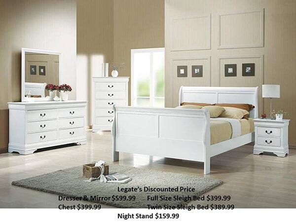 Coaster White bedroom