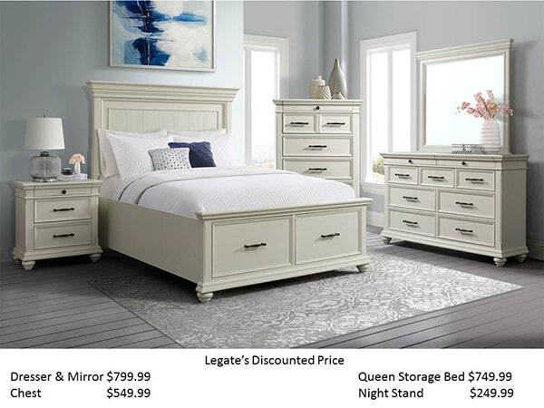 Elements Slater White bedroom