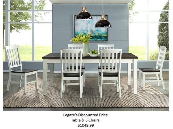 kayla table & 6 chairs