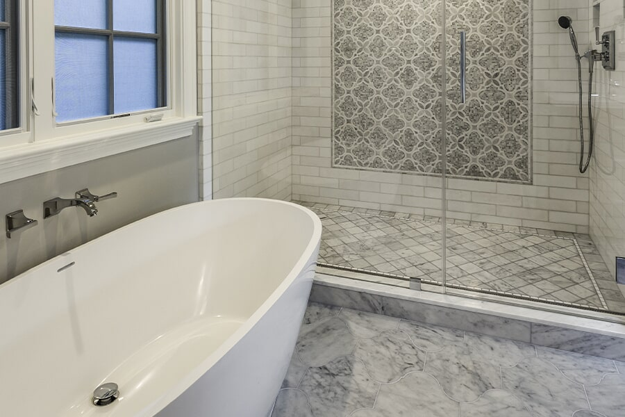Bathroom remodel in Arlington, OH from House of Color