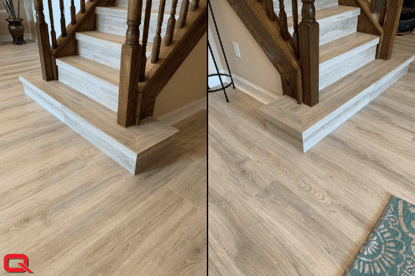 Custom Stair Noses at Quantum Floors