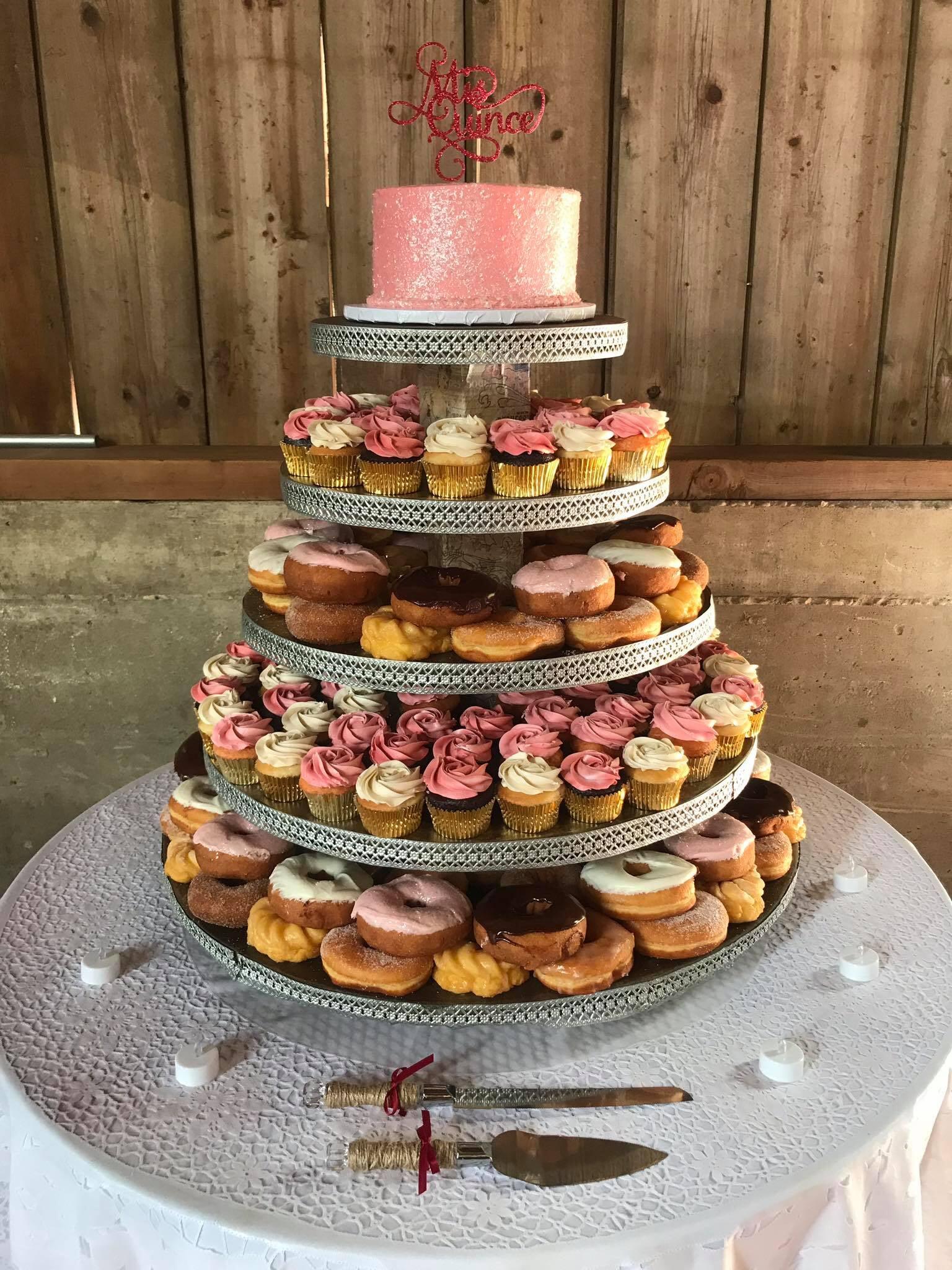 Donut & Cupcake Tower Cake-min