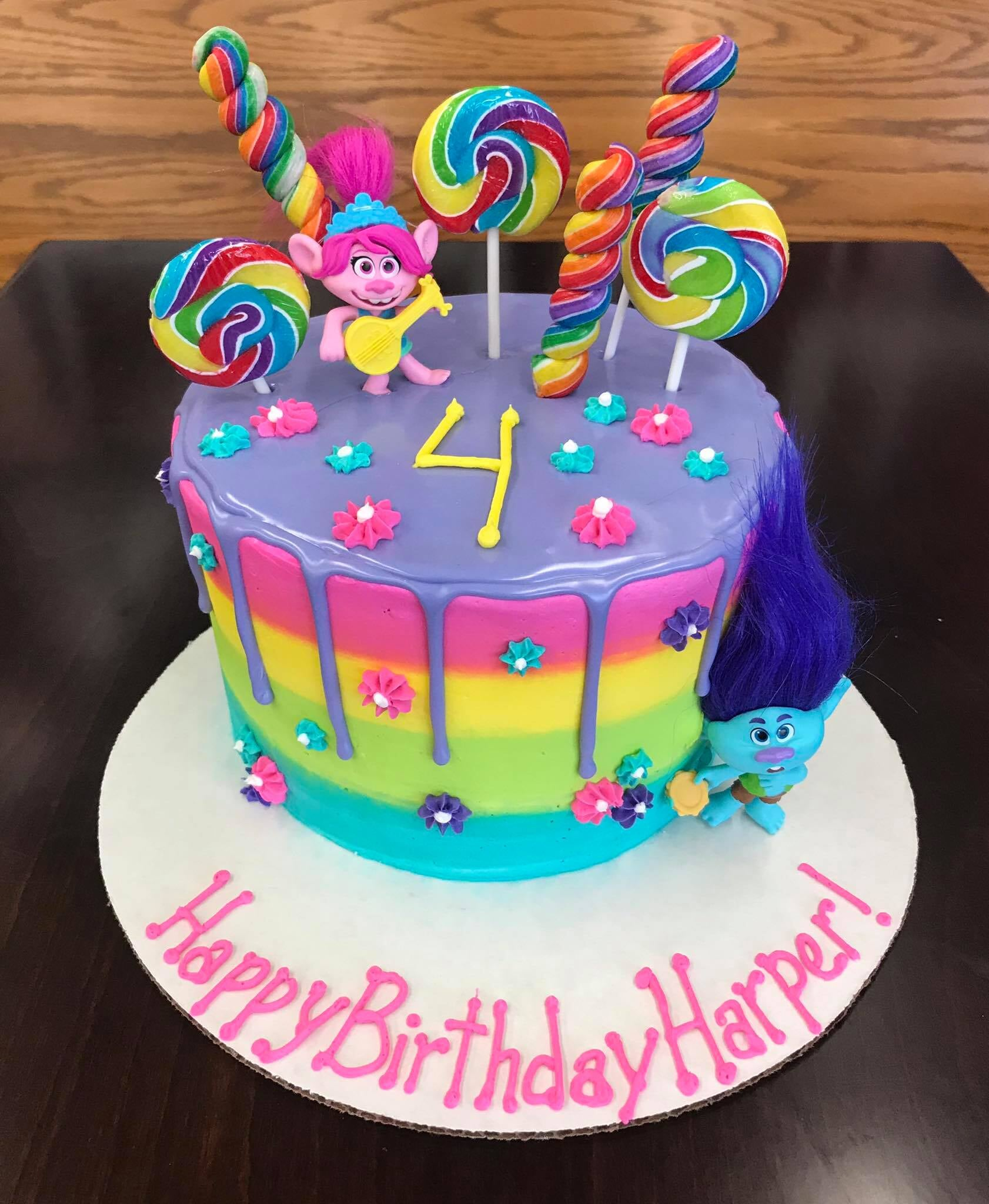 Happy Colorful Round Tiered Cake-min