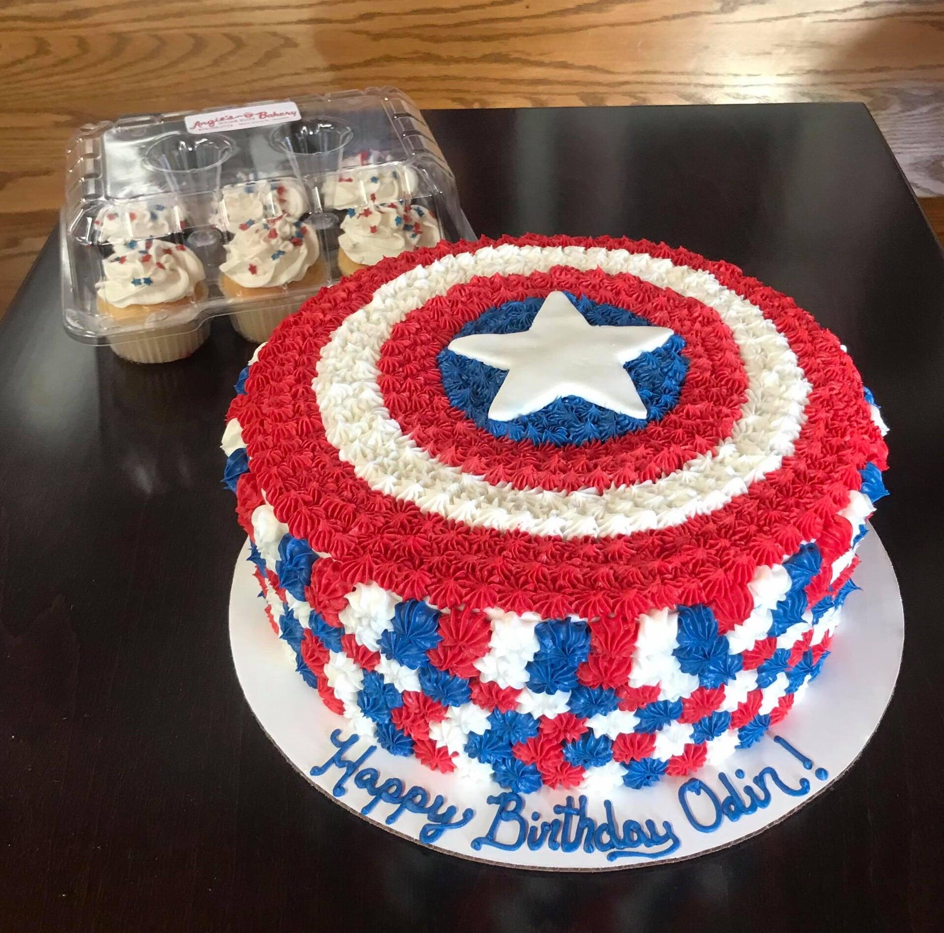 Happy Odin Marvel Round Cake-min