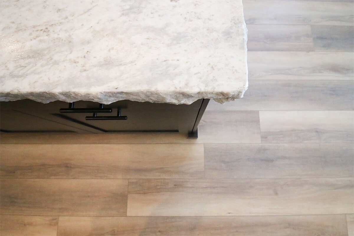 Live edge countertop at 'The James' from Pioneer Floor Coverings & Design