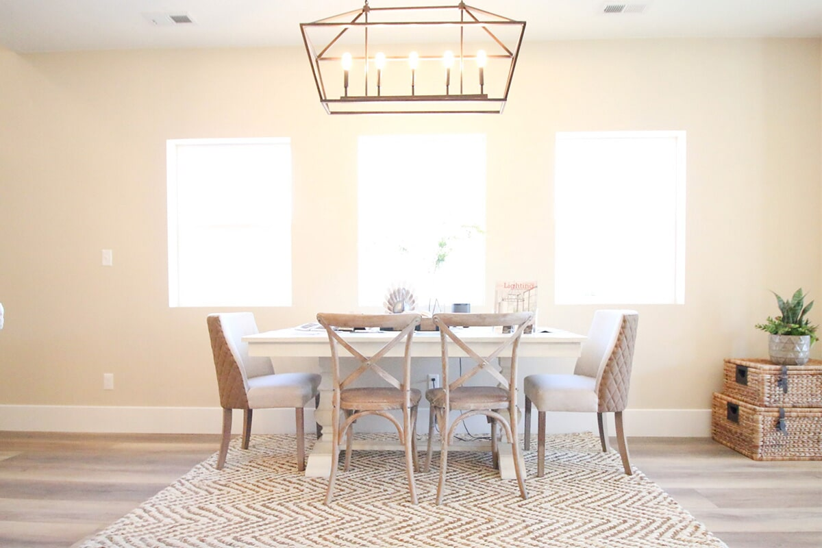 Bright dining space at 'The James' from Pioneer Floor Coverings & Design