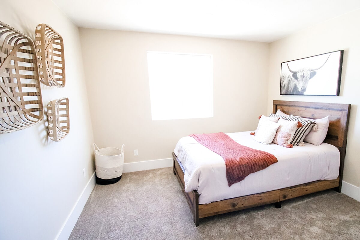 Bright bedroom at 'The James' from Pioneer Floor Coverings & Design