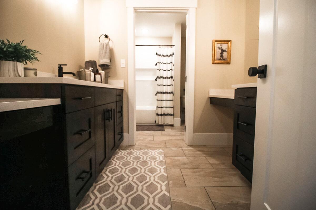 Modern bathroom at 'The James' from Pioneer Floor Coverings & Design