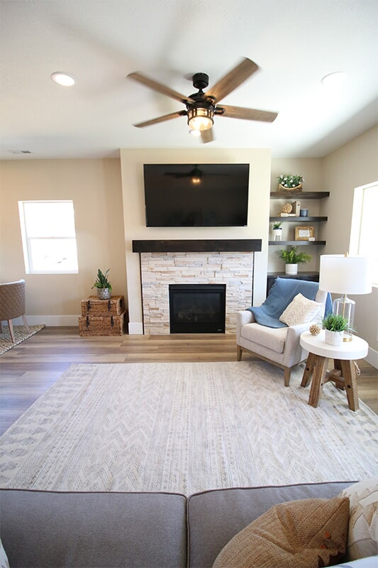 Living space at 'The James' from Pioneer Floor Coverings & Design